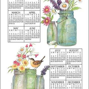 Calendar Towel 2020 - Wildflowers