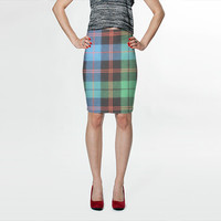 TARTAN Fitted Skirt