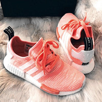 "2017 ""Adidas"" NMD Fashion Trending Women Leisure Running Sports Shoes orange"