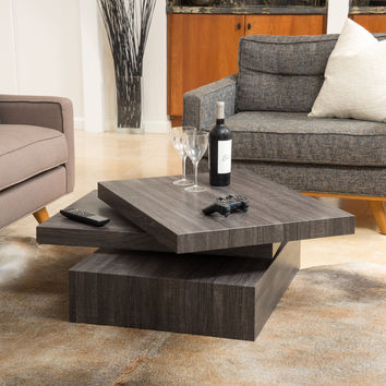 Christopher Knight Home Carson Rotating Wood Coffee Table | Overstock.com Shopping - The Best Deals on Coffee, Sofa & End Tables