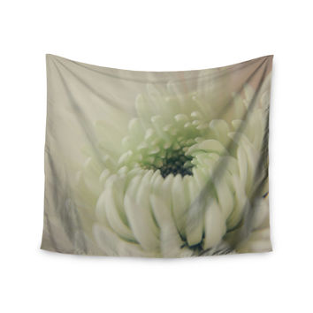 """Angie Turner """"Pure Petals"""" White Floral Wall Tapestry"""