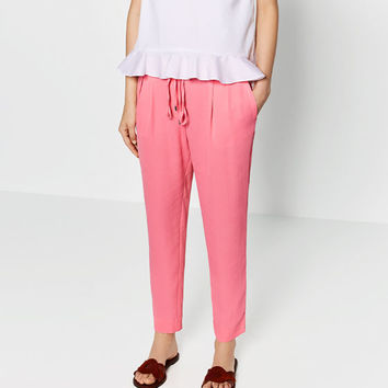 LOOSE - FIT TROUSERS-View all-WOMAN-NEW IN | ZARA United States