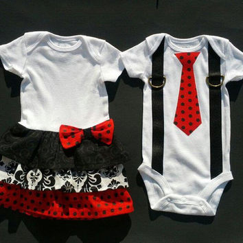Boy Girl Twin Matching Outfits Sibling from TheTwinShop on Etsy 5aaf3f6b16