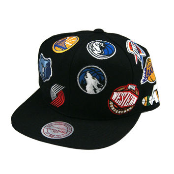 Mitchell & Ness Western Conference NBA All-Star Black Snapback Hat