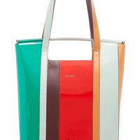 Striped Leather Tote | Moda Operandi
