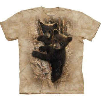 DCCKJY1 Bear Cubs Curious in a Tree T-Shirt