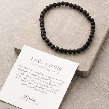 Lava Stone Mini Gemstone Energy Bracelet