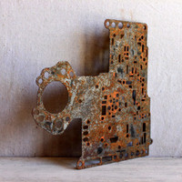 rusty metal gasket art supply