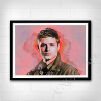 Dean Winchester, Supernatural, Instant download, Movie character, Digital Print, Room decor, Wall print, Jensen Ackles poster, print