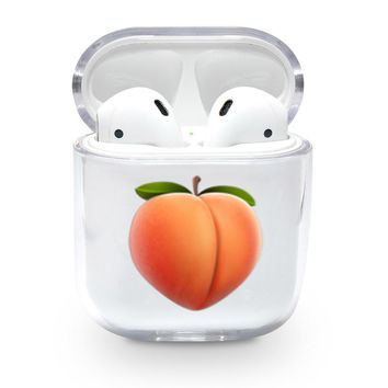 Peach Emoji Airpods Case