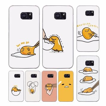 Cute Funny Gudetama Character Egg design transparent clear hard case cover for Samsung Galaxy S9 S8 S7 Plus S6 S7 edge S5