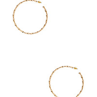 FOREVER 21 Twisted Moment Hoops Gold One