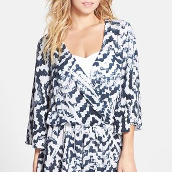 Women's Blue Life 'Wild & Free' Print Cover-Up Romper