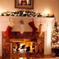 Fireplace Eternity Printed Photography Background / 9329