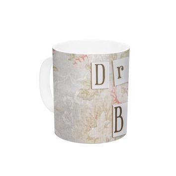 "Debbra Obertanec ""Dream Big"" Quote Floral Ceramic Coffee Mug"