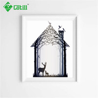 Cotill Decorative Pictures Deer Wall Pictures Canvas Painting Home Decor Frame Not Include Canvas Art Printing Posters