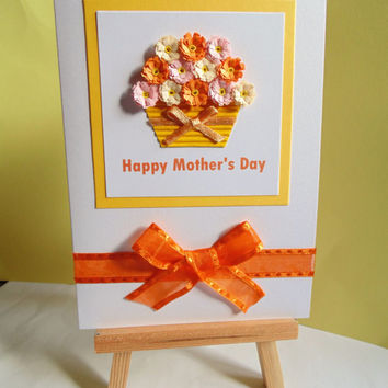 Mother's day cards, Mothers day, happy Mother's day, quilled card, handmade card, card for mum, greeting card, Mothers day floral, mum card