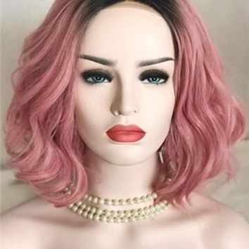 Twisted Berry Warm Pink Wave Synthetic Lace Front Wig