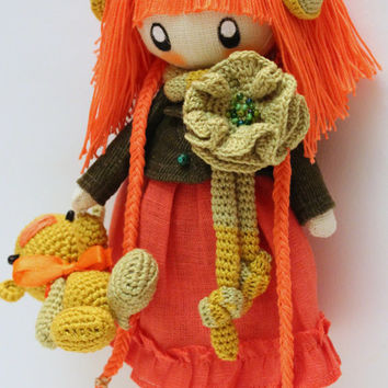 Little Doll Zooey orange and green....