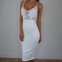 Sheer Me Now White Dress