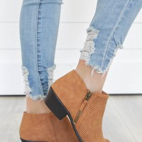 Get To Know You Booties - Camel