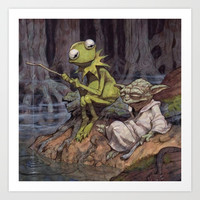 "Star Wars ""Dagobah"" Art Print by Nostromo"