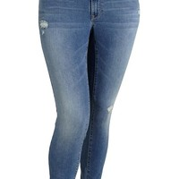 Women's Plus The Rockstar Distressed Jeggings