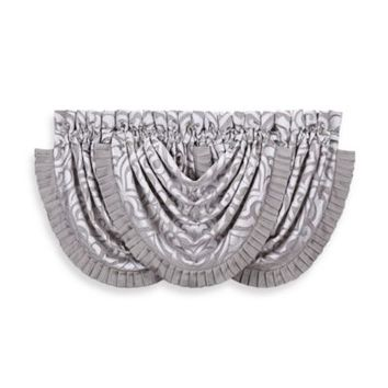 J. Queen New York™ Luxembourg Waterfall Window Valance in Antique Silver