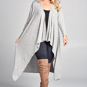 Grey Hacci Sweater Duster