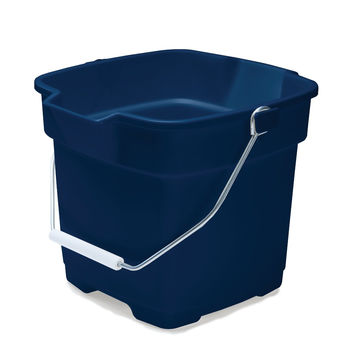 Rubbermaid FG296400ROYBL Roughneck Square Bucket, 12-Quart, Blue