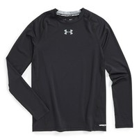 Boy's Under Armour 'Armour' Fitted HeatGear Long Sleeve T-Shirt,