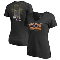 Women's Houston Astros Fanatics Branded Black 2017 World Series Champions Trophy Roster T-Shirt