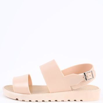 Bamboo Putter-02 Slingback Jelly Sandals