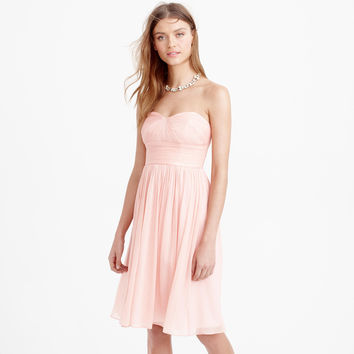 Pink Pleated Strapless Dress