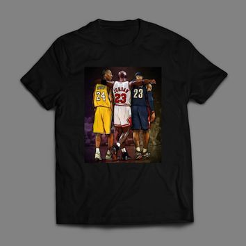 KOBE, JORDAN, LEBRON BASKETBALL LEGENDS T-SHIRT