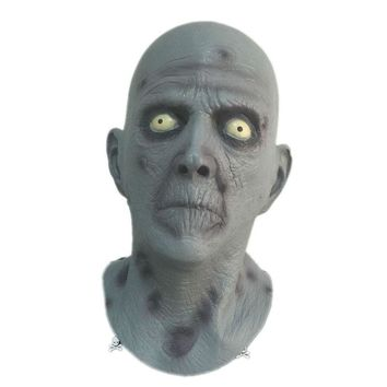 Horror Old Man Latex Mask Terror Blue Male Head Rubber Masks Halloween Carnival Masquerade Zombie Cosply Party Fancy Dress Props