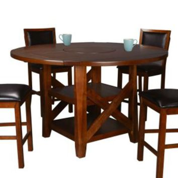 Winners Only Franklin Round Extension Dining Table with Lazy Susan   www.hayneedle.com
