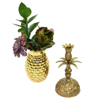 Brass Pineapple Bookend Brass Pineapple Candle Holder Bookend Palm Beach Decor