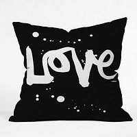 Kal Barteski Love Black Throw Pillow