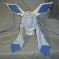 Shiny Glaceon Fleece Cosplay Hat by CaffeinePowered on Etsy