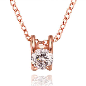 Sweet Square Rose Gold Necklace