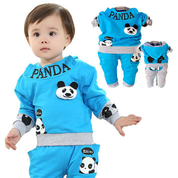 Anlencool New Spring two piece suit boy suit Teddy Bear baby clothing free shipping baby clothing sets baby boy clothes sets