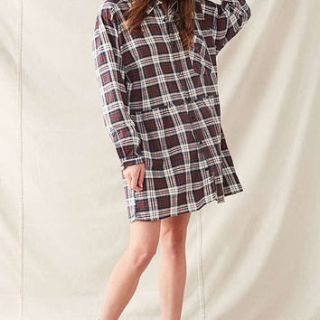 Urban Renewal Recycled Plaid Shirt Dress | Urban Outfitters