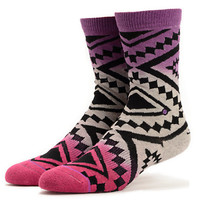 Stance Girls Taos Remix Wine Ombre Crew Socks
