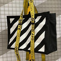 OFF-WHITE Women Fashion Handbag Tote Satchel