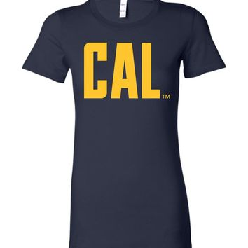 Official NCAA University of California UC Berkeley Golden Bears CAL Oski! Bella Ladies Favorite Tee - 05c-cal