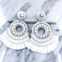 Serendipity Fringe Statement Earrings