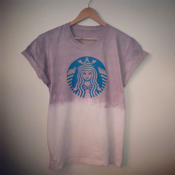 "Starbucks ""Ariel: The Little Mermaid"" Mocha Dip Dye T-Shirt"