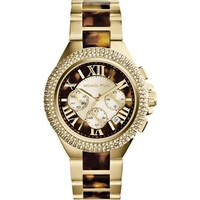 Michael Kors Watches Camille Women's Watch - Gold and Horn - Women's Watches