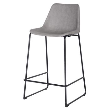 Delta PU Leather ABS Bar Stool, Vintage Mist Gray